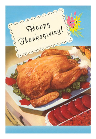 TD-00038-C~Happy-Thanksgiving-Cooked-Turkey-Posters